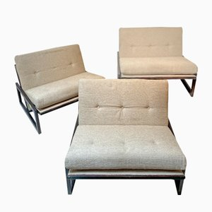 Carlotta Beige Armchairs by Tobia Scarpa for Cassina, Italy, Set of 3