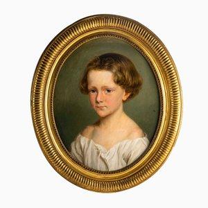 Portrait d'Enfant, Huile sur Toile, Ecole Française, 19ème Siècle