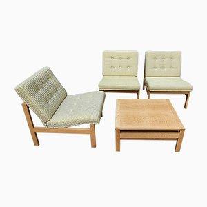 Living Room Set by Ole Gjerløv-Knudsen & Torben Lind, 1960s, Set of 3