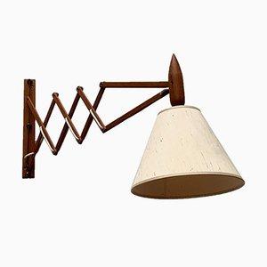 Lampada da parete a forbice Mid-Century in teak di Le Klint