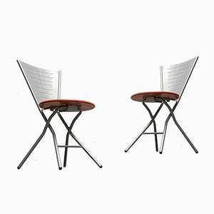 Postmodern Folding Chairs by Rutger Andersson, Set of 2