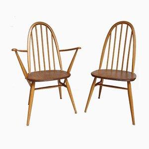 Poltrona e sedia Windsor di Lucian Ercolani, anni '60, set di 2