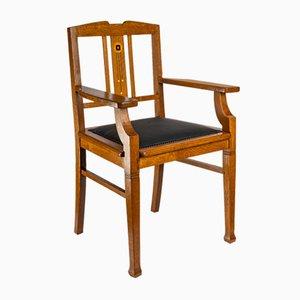 Chaise de Bureau en Chêne par Gustave Serrurier-Bovy