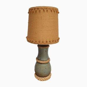 Sandstein und Jute Lampe im Stil von Audoux Minet