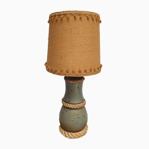 Sandstone and Jute Lamp in the style of Audoux Minet