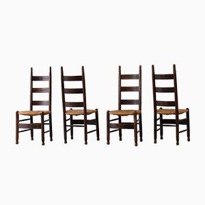 Ladder Back Esszimmerstühle, 4er Set