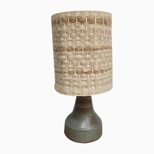 Sandstone and Wool Lamp in the style of Adrien Audoux & Frida Minet, 1960s