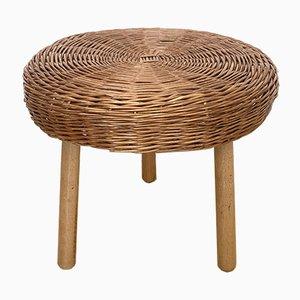 Wicker Side Table or Stool by Tony Paul