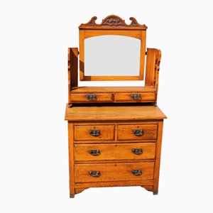 Satin Walnut Dressing Table Central Stand, 1920s