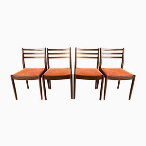 Vintage Orange Upholstery Dining Chairs from G-Plan, Set of 4