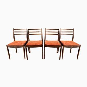 Vintage Vintage Polster Esszimmerstühle von G-Plan, 4er Set