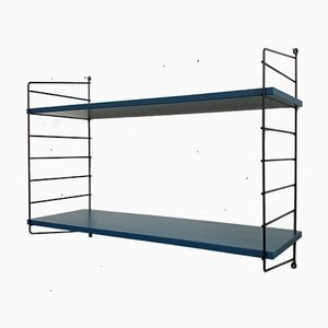 Blue Coated String Wall Shelf