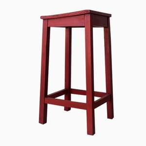Red Painted High Stool
