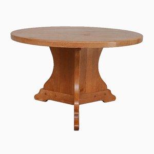 Mid-Century Dutch Oak Circular Dining Table