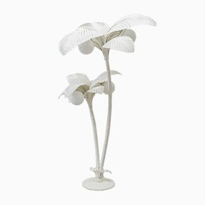 White Palm Tree Floor Lamp, 1970s