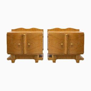 French Art Deco Nightstands, Set of 2