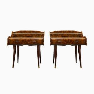 Tables de Chevet Mid-Century, Italie, Set de 2