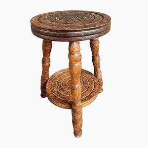 Oak Side Table or Plant Stool