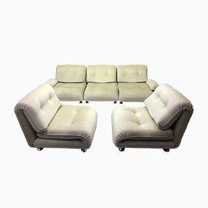 Cremefarbenes modulares Vintage 5-Sitzer Sofa von Km Wilkins für G-Plan