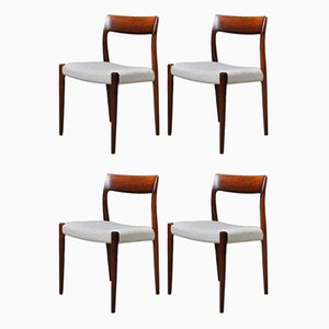 Rosewood Model 77 Dining Chairs by Niels O Moller, Set of 4