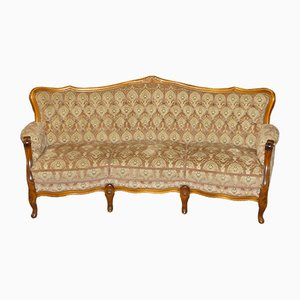 Chippendale Style 3-Seater Couch in Rosé Pink