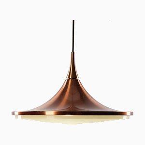 Lampe à Suspension Vintage en Cuivre par Rolf Krueger pour Staff, 1960s