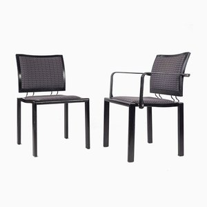 Chairs by Bruno Ray and Charles Polin for Swiss Dietiker, Switzerland, 1980s, Set of 2