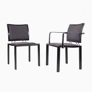 Stühle von Bruno Ray und Charles Polin für Swiss Dietiker, Switzerland, 1980er, 2er Set