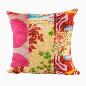Silk Ethnic Velvet Lumbar Cushion Cover