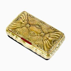 Italian Jewelry Box in Brass, 1910