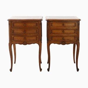 Tables de Chevet ou Meubles d'Appoint Renouveau Vintage, France, Set de 2