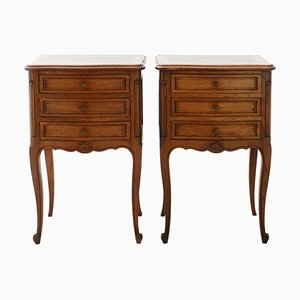 Vintage French Revival Nightstands or Side Cabinets, Set of 2