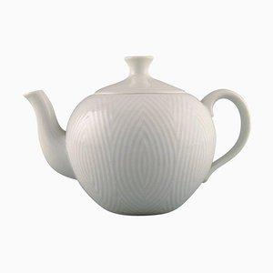 Weiße Teekanne von Axel Salto für Royal Copenhagen, 1960er