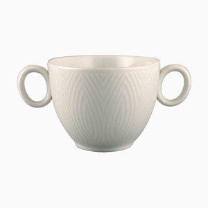 White Sauce Bowl by Axel Salto for Royal Copenhagen, 1960s