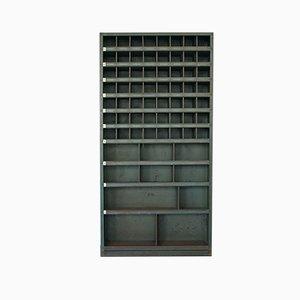 Mueble para revistas alemán industrial de Hans Huber Eisenbaum Zirndorf, años 50