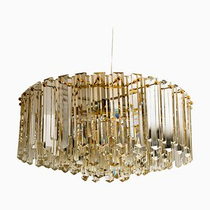 Große Einbaulampe aus vergoldetem Messing von JT Kalmar, 1970er