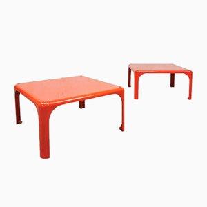 Tables d'Appoint Empilables Demetrio 45 Vintage par Vico Magistretti pour Artemide, Set de 2
