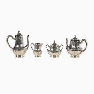 Silbernes Teeservice aus Metall
