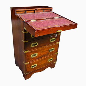 Small Vintage Nautical Desk with Drawers