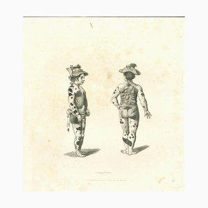 Thomas Holloway, Strange Figures, Original Etching, 1810