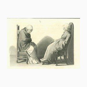 Thomas Holloway, Figures, Original Etching, 1810