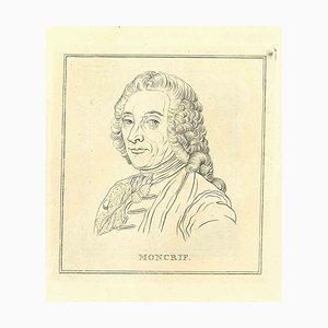 Thomas Holloway, Portrait of Moncrief, Original Radierung, 1810