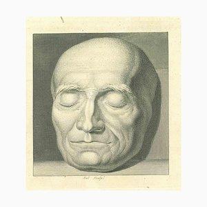 John Hall, Kopf eines Mannes, Original Radierung, 1810