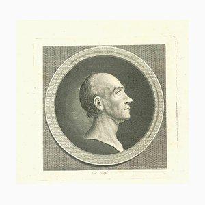 John Hall, Portrait eines Mannes, Original Radierung, 1810