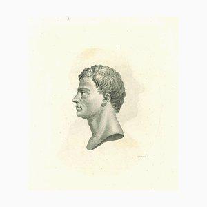 Thomas Holloway, Silhouette, Original Radierung, 1810