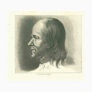 John Thornthwaite, Portrait of a Man, Original Etching, 1810
