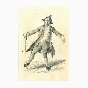 Thomas Holloway, A Drunk Man, Original Etching, 1810