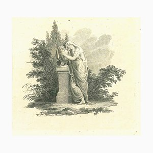 Thomas Holloway, Historical Woman, Original Etching, 1810