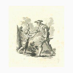 Thomas Holloway, William Tell, Original Radierung, 1810