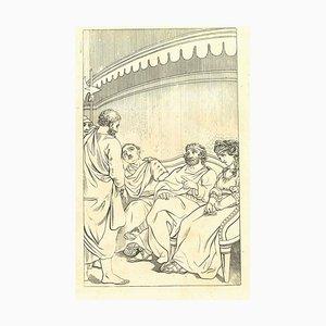 Thomas Holloway, Historische Männer, Original Radierung, 1810